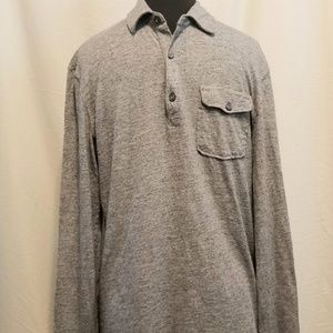L.O.G.G. Mens Heather Grey Long Sleeve Shirt, Sz M